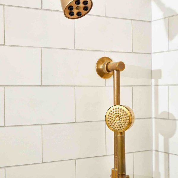 gold accent shower hardware South Shore project by Cabinet Plant