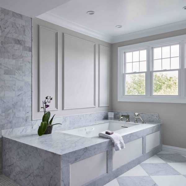bathtub and tile South Shore project by Cabinet Plant