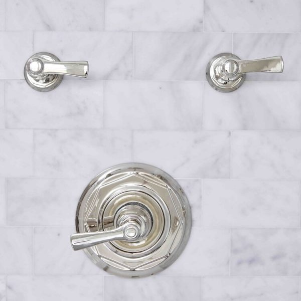 chrome accent shower hardware South Shore project by Cabinet Plant