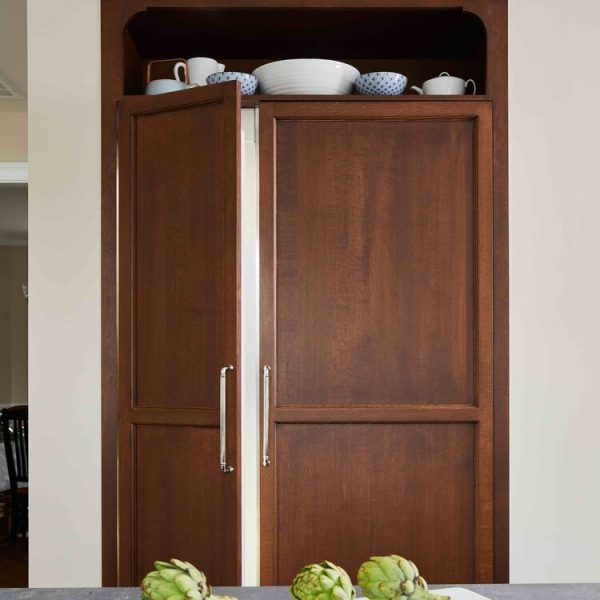 Wood paneled refrigerator