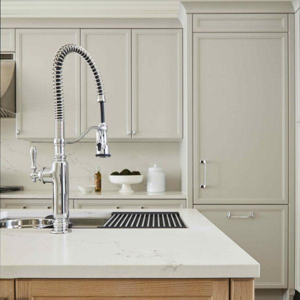Kitchen Island sink detail Brooklyn Brownstone