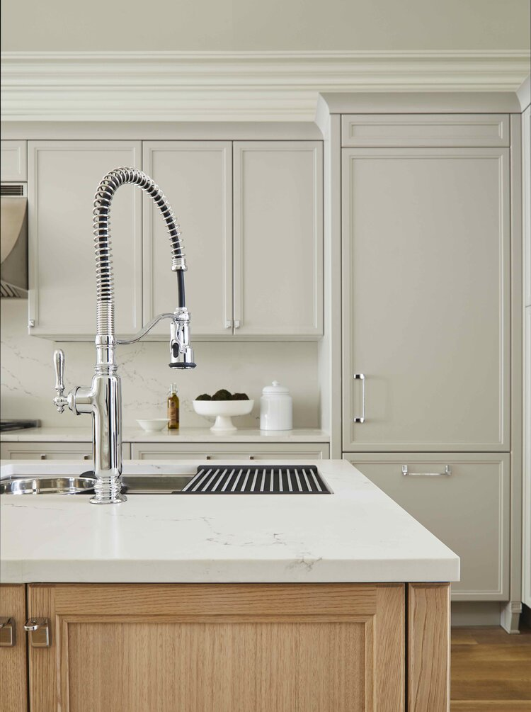 Kitchen Island sink detail Brooklyn Brownstone