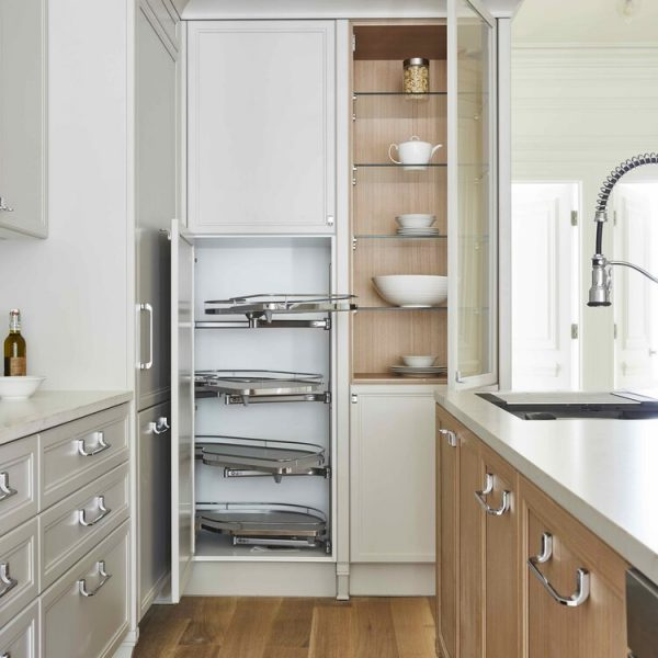 Revolving Shelf cabinet Brooklyn brownstone kitchen