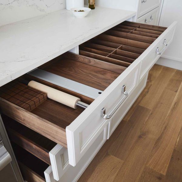 Brooklyn brownstone kitchen - undercounter drawers