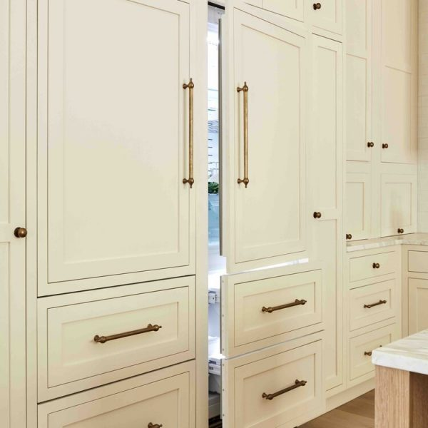 Cabinet faced refrigerator French Country Home