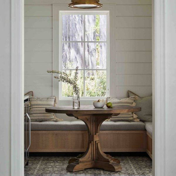 French Country Home by Cabinet Plant - alcove