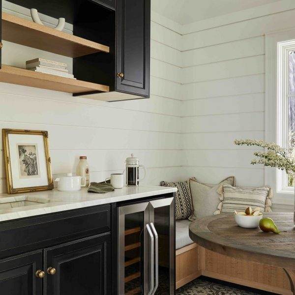 French Country Home by Cabinet Plant - kitchen