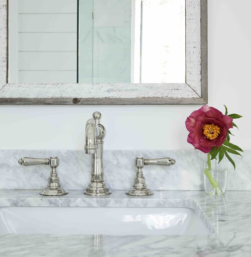 bathroom sink & hardware French Country Home Project