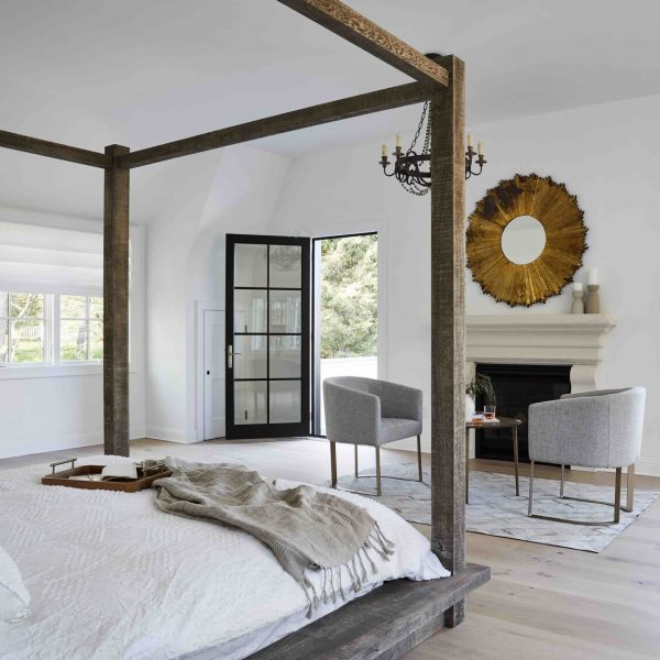 French Country Home by Cabinet Plant - bedroom