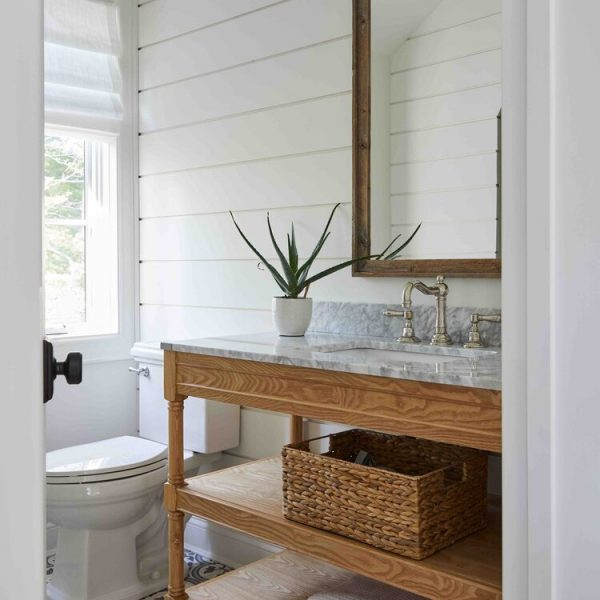 French Country Home by Cabinet Plant - bathroom