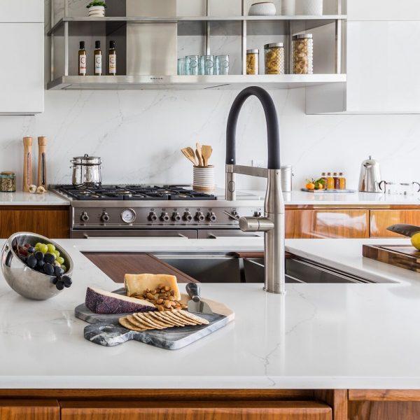 kitchen island sink Noyack Modern Waterfront Kitchen bu Cabinet Plant