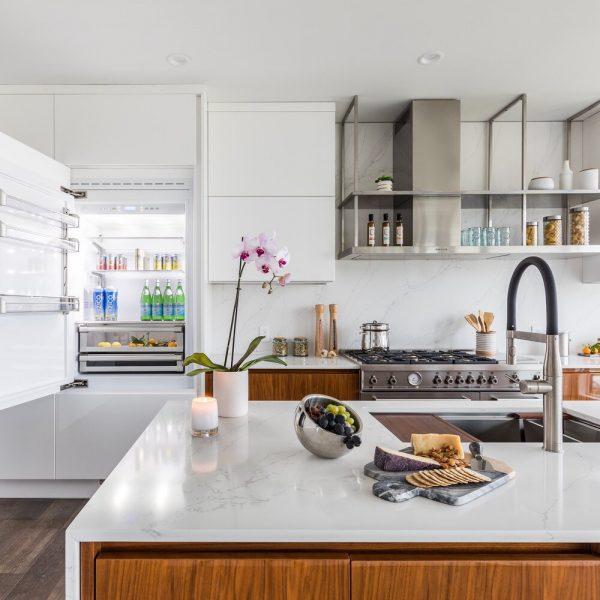 refrigerator Noyack Modern Waterfront Kitchen bu Cabinet Plant